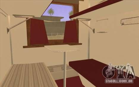 Carroça de assento reservado para GTA San Andreas traseira esquerda vista