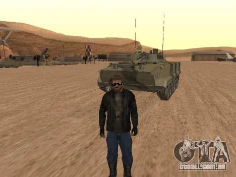 BMP-3 para GTA San Andreas vista traseira