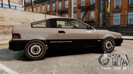 Blista CRX para GTA 4 esquerda vista