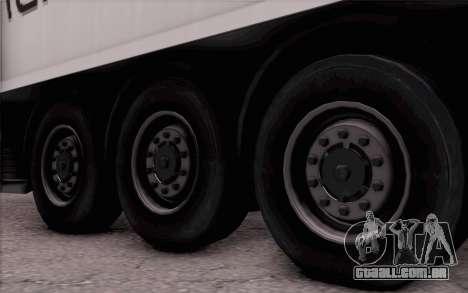 Samsung Galaxy S Trailer para GTA San Andreas traseira esquerda vista