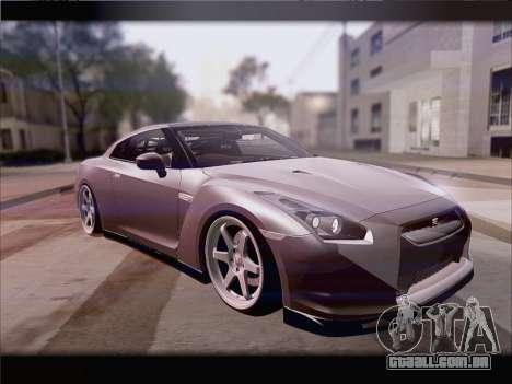 Nissan GT-R Spec V Stance para GTA San Andreas esquerda vista