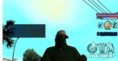 Com diamante-HUD RP para GTA San Andreas terceira tela