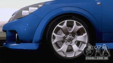 Vauxhall Astra VXR  2007 para GTA San Andreas esquerda vista