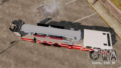 MTL Firetruck Tower Ladder FDLC [ELS-EPM] para GTA 4 vista direita