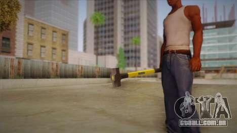 Sledge Hammer para GTA San Andreas por diante tela