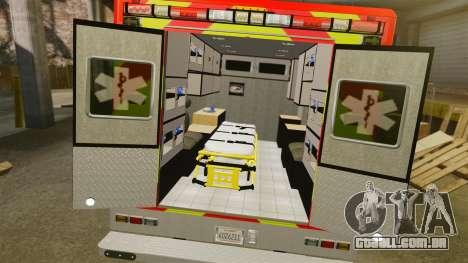 Ford E-350 LAFD Ambulance [ELS] para GTA 4 vista interior