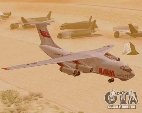 Il-76td IlAvia para GTA San Andreas esquerda vista