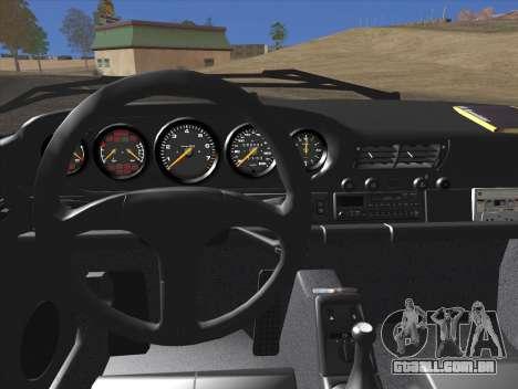 Porsche 911 Speedster Carrera 2 1992 para GTA San Andreas vista superior