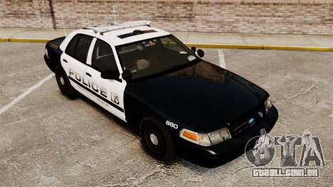 Ford Crown Victoria 2008 LCPD Patrol [ELS] para GTA 4 vista interior