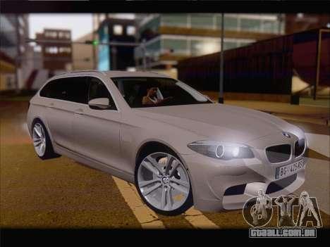 BMW M5 F11 Touring para GTA San Andreas esquerda vista