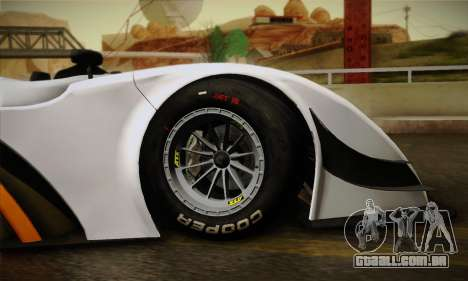 Caterham-Lola SP300.R para GTA San Andreas vista interior
