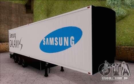 Samsung Galaxy S Trailer para GTA San Andreas esquerda vista