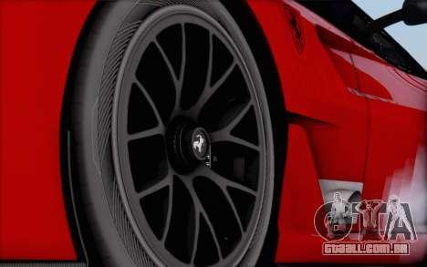 Ferrari 599XX Evolution para GTA San Andreas traseira esquerda vista