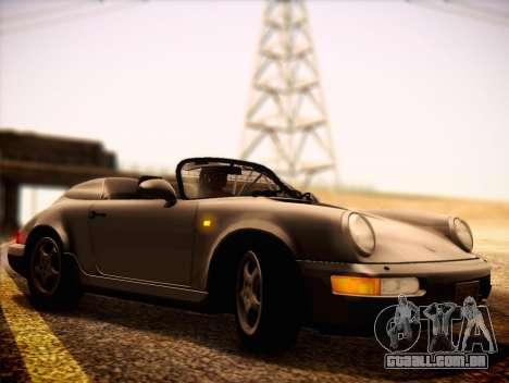 Porsche 911 Speedster Carrera 2 1992 para GTA San Andreas traseira esquerda vista
