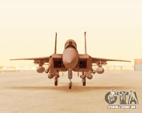 F-15E Strike Eagle para GTA San Andreas esquerda vista