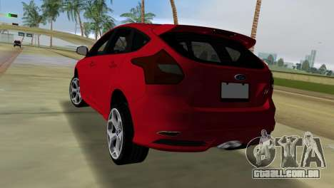 Ford Focus ST 2013 para GTA Vice City deixou vista