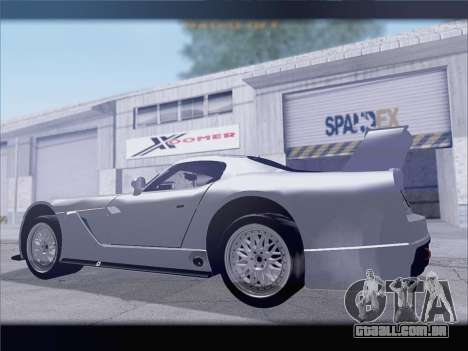 Dodge Viper Competition Coupe para GTA San Andreas vista direita