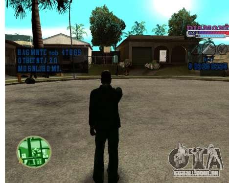 Com diamante-HUD RP para GTA San Andreas segunda tela