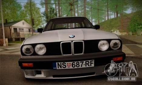 BMW M3 E30 para GTA San Andreas vista inferior