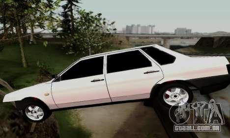 VAZ 21099 Hobo para GTA San Andreas vista interior
