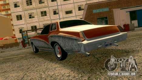 Chevy Monte Carlo Lowrider para GTA Vice City vista traseira esquerda