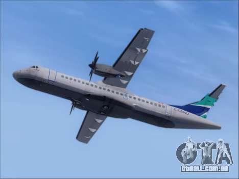 ATR 72-500 WestJet Airlines para GTA San Andreas vista traseira