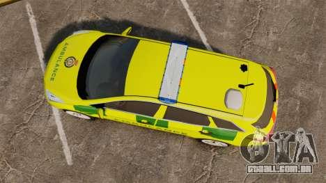 Hyundai i40 Tourer [ELS] London Ambulance para GTA 4 vista direita