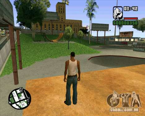 Novo HD Skate Park para GTA San Andreas nono tela