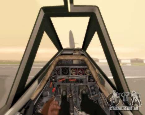 Focke-Wulf FW-190 F-8 para GTA San Andreas vista superior