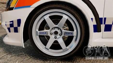 Mitsubishi Lancer Evo X Humberside Police [ELS] para GTA 4 vista de volta