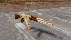 AK-47 banhado a ouro