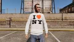Camisola-eu amo Nova York