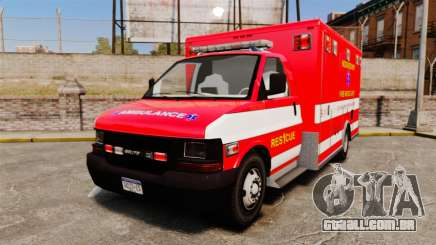 Brute Woonsocket Fire Medic Unit [ELS] para GTA 4