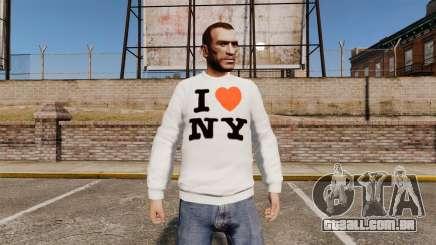 Camisola-eu amo Nova York para GTA 4