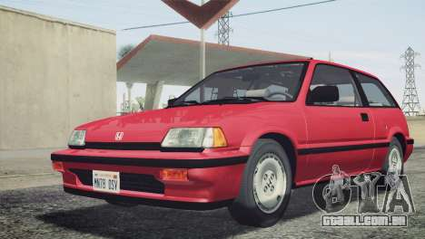 Honda Civic Si 1986 HQLM para GTA San Andreas vista traseira
