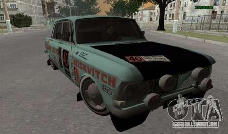 Moskvich 412 Rally para GTA San Andreas esquerda vista