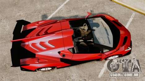 Lamborghini Veneno Roadster LP750-4 2014 para GTA 4 vista direita