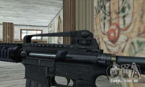 M4 RIS Carbine para GTA San Andreas terceira tela