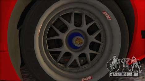 Porsche 911 GT3 RSR para GTA San Andreas vista direita