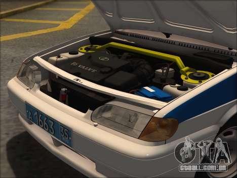 VAZ 2114 Polícia DPS para GTA San Andreas traseira esquerda vista