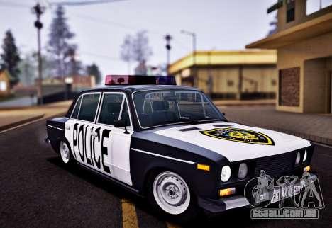 Polícia de 2106 VAZ para GTA San Andreas