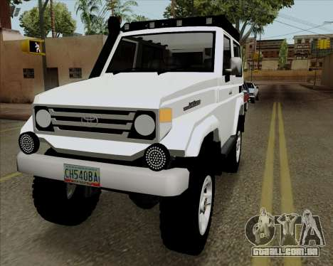 Toyota Land Cruiser Machito 2009 LX para GTA San Andreas esquerda vista