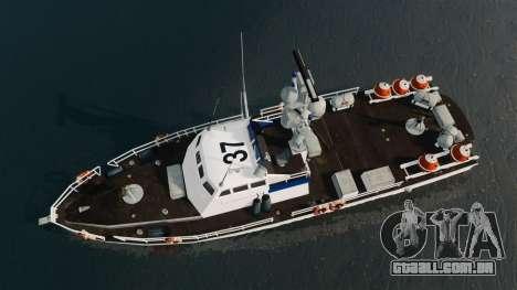 Canhoneira U.S. Coastguard para GTA 4 vista direita