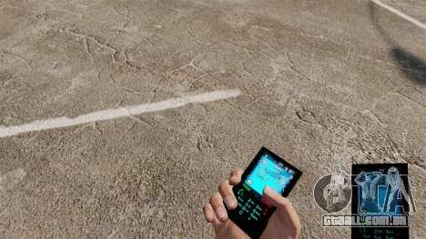 O tema para o telefone Aqua Azul v2.0 para GTA 4