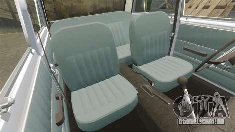 VAZ-Lada 2101 URSS para GTA 4 vista inferior