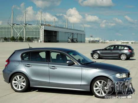 Arranque telas BMW 120i para GTA 4 sexto tela