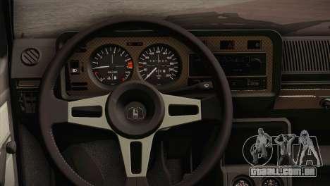 Volkswagen Golf MK1 Red Vintage para GTA San Andreas vista traseira