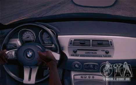 BMW Z4 V10 Stanced para GTA San Andreas vista traseira