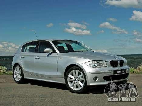 Arranque telas BMW 120i para GTA 4 quinto tela