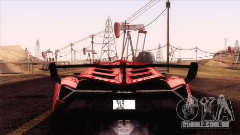 Lamborghini Veneno Roadster LP750-4 2014 para GTA San Andreas vista direita